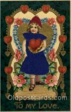 slk100006 - To My Love, Silk Postcard Postcards