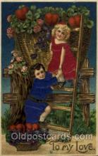 slk100008 - To My Love, Silk Postcard Postcards