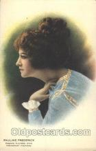 slm100045 - Pauline Frederick Silent Movie Star Postcard Postcards