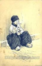 smo001026 - Children Smoking Postcard Postcards