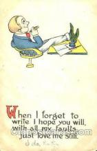 smo001039 - Children Smoking Postcard Postcards