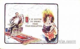 smo001054 - Children Smoking Postcard Postcards