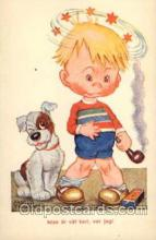 smo001067 - Children Smoking Postcard Postcards