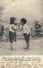 smo001087 - Children Smoking Postcard Postcards