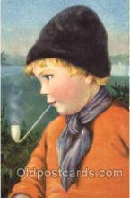smo001152 - Children Smoking Postcard Postcards