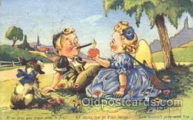 smo001265 - People / Children Smoking Postcard Postcards