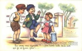 smo001267 - People / Children Smoking Postcard Postcards