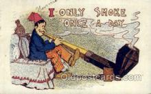 smo001308 - I only smoke once a day Smoking Postcards Old Vintage Antique Post Cards