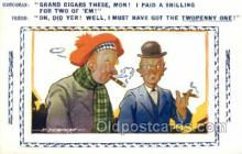 smo001313 - Smoking Postcards Old Vintage Antique Post Cards