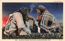 Blackfeet Squaws Smoking Postcard Postcards