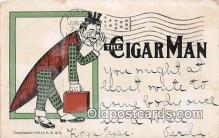 Cigar Man Smoking Postcard Postcards