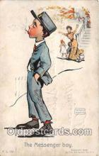 Messenger Boy Smoking Postcard Postcards