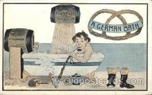 smo100013 - A German Bath Smoking Postcard Postcards