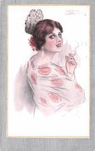 smo100050 - Smoking Old Vintage Antique Post Card