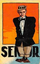 smo100053 - Smoking Old Vintage Antique Post Card