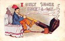 smo100087 - Smoking Old Vintage Antique Post Card