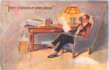 smo100110 - Smoking Old Vintage Antique Post Card