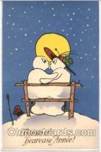 sno001002 - Snowman Postcard Postcards