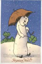 sno001003 - Snowman Postcard Postcards