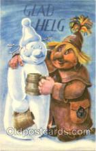 sno001010 - Snowman Postcard Postcards