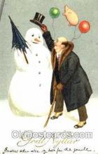 sno001011 - Snowman, Postcard Postcards