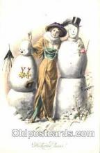 sno001014 - Snowman, Postcard Postcards