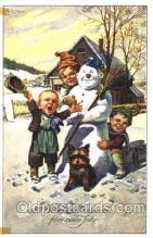 sno001019 - Snowman, Postcard Postcards