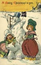 sno001031 - Snow Man, Snowman, Postcard Postcards