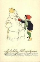sno001034 - Snow Man, Snowman, Postcard Postcards