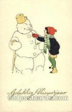 sno001034 - Snow Man, Snowman, Postcard Postcards