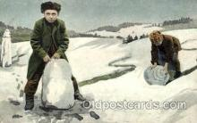 sno001041 - Snow Man, Snowman, Postcard Postcards