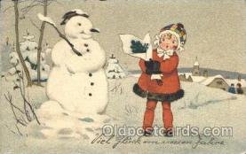 sno001056 - t.M.B. Series 2205 Snowman Postcard Postcards