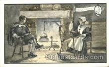 spi001010 - John Alden and Priscilla Spinning Wheel Post Cards Postcards