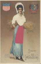 stg002003 - Missouri, USA Silk, State Girl Postcard Postcards