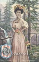 stg003036 - North Carolina, USA State Girl Postcard Postcards