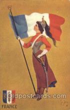 stg004004 - France National Girl Artist St. John, Country Girl, Postcard Postcards