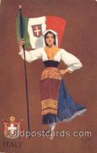 stg004005 - Italy National Girl Artist St. John, Country Girl, Postcard Postcards