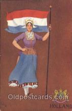 stg004006 - Holland National Girl Artist St. John, Country Girl, Postcard Postcards