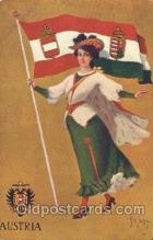 stg004007 - Austria National Girl Artist St. John, Country Girl, Postcard Postcards