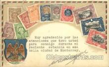 stp001014 - Embossed Mexico Stamp on Postcard Postcards