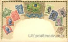 stp001018 - Brazil Stamp on Postcard Postcards