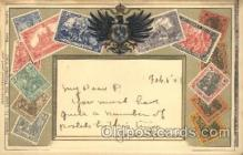 stp001021 - Embossed Germany Stamp on Postcard Postcards