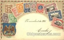 stp001025 - Embossed Mexico Stamp on Postcard Postcards