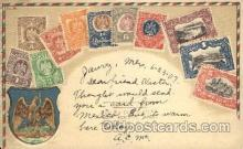 stp001026 - Embossed Mexico Stamp on Postcard Postcards