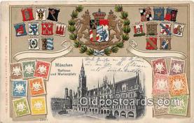 stp001095 - Munchen Rathaus Und Marienplatz  Postcard Post Card