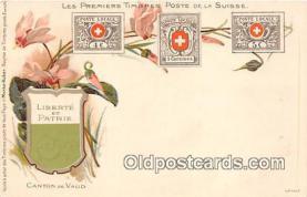 stp001121 - Liberte et Patrie Canton De Vaud Postcard Post Card