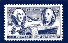 stp001188 - US Postage Stamp Centenary 1947  Postcard Post Card