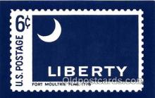 stp001202 - Fort Moultrie Flag 1776 Liberty, US Postcard Post Card