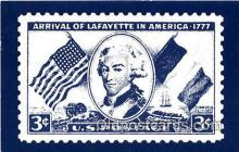stp001203 - Arrival of Lafayette America Postcard Post Card