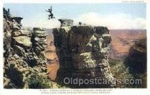 stu001014 - Grand Canyon National Park, Arizona, USA Daring Jump, Stunt Stunts Postcard Post Card
